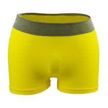 2017 yellow loose polyester mens seamless boxers underwear
