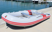 Small PVC inflatable fishing boat with motor for sale