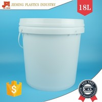 18kg Paint Plastic Buckets, PP Pail for Chemicals, Plastic Packaging Barrel with Handle