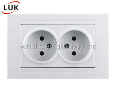 Classical design Modern LUK Electric switches EU one Gang Two Gang Wall Light Electrical Socket Switch 16A