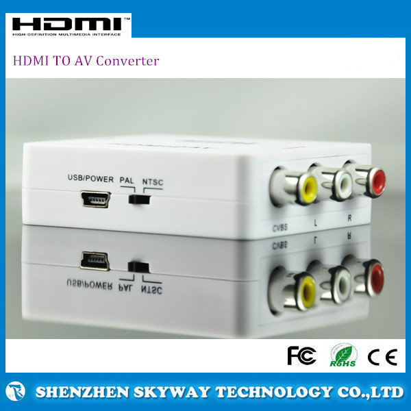 Good Price HDMI TO AV Converter HDMI To 3RCA Composite Video Audio AV CVBS USB Adapter Supports NTSC and PAL
