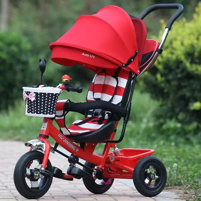 Hot sale 2016 Anti-UV cheap metal baby tricycle price/new model children trike / 3 wheel kid trike baby carrier