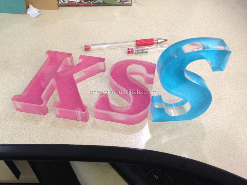 acrylic letter with color