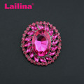 Zinc Alloy New design Oval Rose Rhinstone brooch pin Fashion Jewelry Brooch