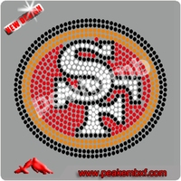 Wholesale Rhinestone Crystal SF Iron on T-Shirts Rhinestone Motif Design