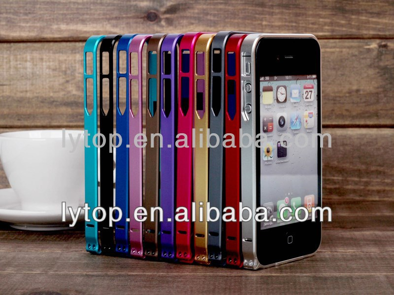 Ultra-thin 0.7 Aluminum Metal Bumper Case For iphone4 4s