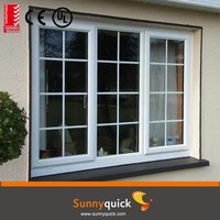 quality aluminum 3 tracks sliding window - detail inside
