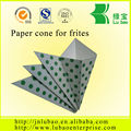 disposable paper cone for chips, fried chicken with custom logo