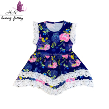 2017 Flutter children wholesale smocked dresses new productions of baby dresses floral frock designs
