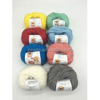 Wool blended knitting yarn with very soft touch