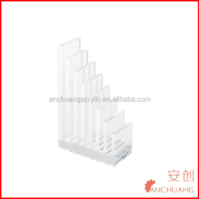 Vertical Type Clear Acrylic Desktop File Organizer Office Desk Accessories