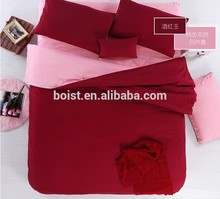 Bedding 100% Polyester solid Bed Sheet Set / Duvet Cover Set