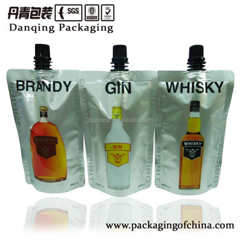 Danqing Printing Plastic spout pouch bag for wine packaging E0015