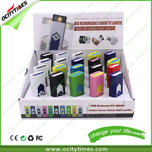Ociytimes corporate gift electronic usb charged lighter/ cheap plastic bulk usb lighter with custom logo printing
