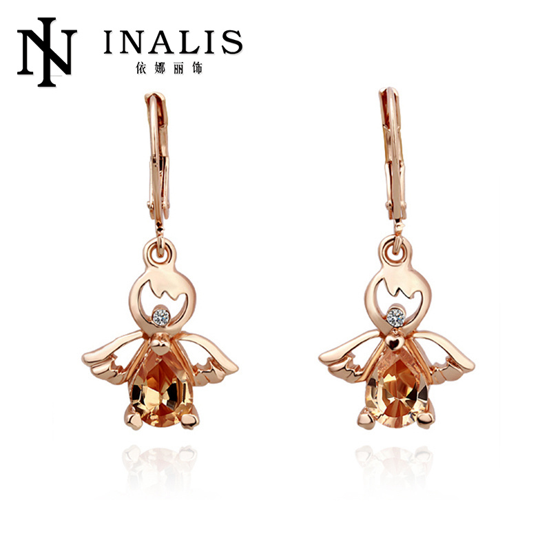 Hot sale gold latest design of jhumka earrings made in China LKN18KRGPE030