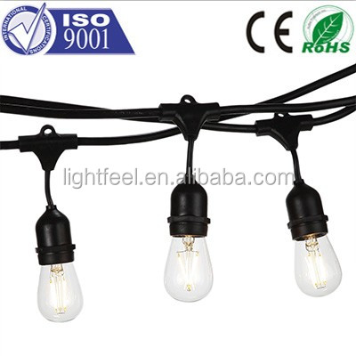 E27 lamp holder LED festoon Bulb Belt string Light indoor or outdoor for christmas