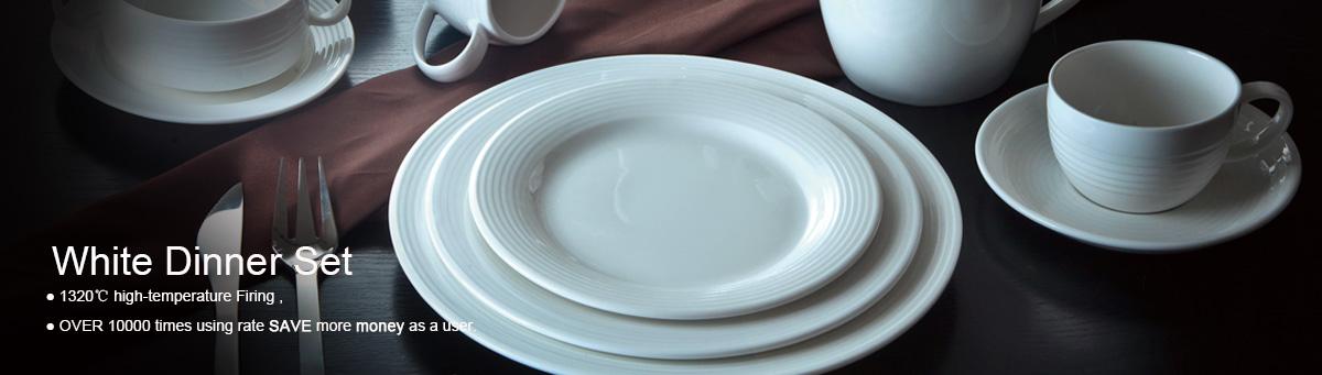 Ceramic Tableware Western Style Unbreakable and Brilliant Dinnerware Set & Guangdong Shengjing Industrial Co. Ltd. - white porcelain ...
