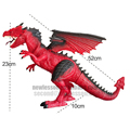 simulation roar non toxic spary flame or ice dinosaur toy with remote control