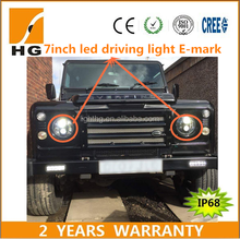 led driving lights 7inch led round headlights E-mark approved motorcycle