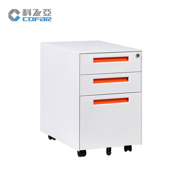 factory price mobile pedestal 3-drawers office steel filing cabinet