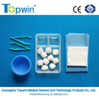 Basic Dressing Set (Nonwoven) with gallipot