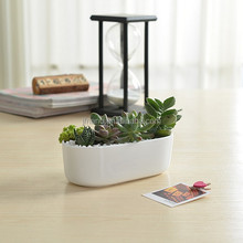 Indoor decorative white small ceramic flower pots wholesale