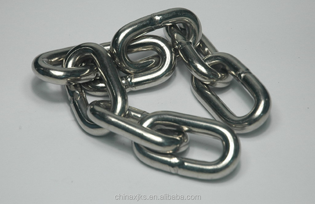 Stainless steel link chain used for decoration