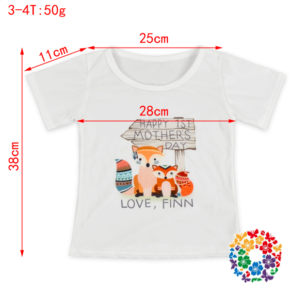Cute Baby Girls Sika Deer Printed T Shirt Children's Soft Summer Cotton Shirts Tops Kid T-shirt Wholesale Price