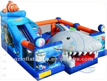 2012 {Qi Ling} Hot Shark inflatable game