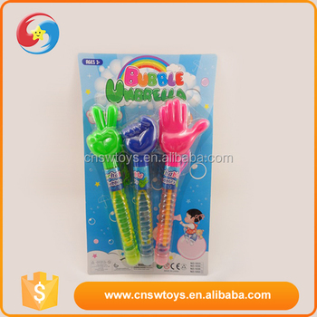 Wholesale eco-friendly plastic material children big gestures bubble toys(65ml)