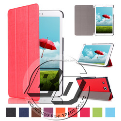 Wholesale Popular Threes Folding Leather Tablet Cover Flip Silk Print Case For Samsung TAB E 9.6 T560 tablet cover case