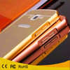 luxury electroplated metal aluminuml bumper mirror plastic case back cover for samsung galaxy grand 2 g7106