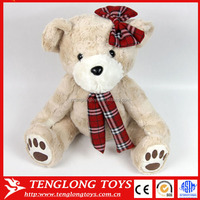 Plush teddy bear with tie stuffed bear toy bear plush toy for kids