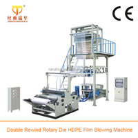 Rotary Die Single Screw High Speed PE Heat Shrink Film Blowing Machinery, Monolayer Blown Film Machine