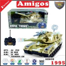 7 channel RC tank with light,music,battery included 2 color mixed child radio control panzer toy