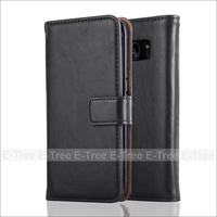 Premium Leather Wallet Folio Cover Case For Samsung Galaxy S7 edge