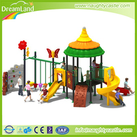 2016 Dreamland high quality metal playground equipment slides for kids