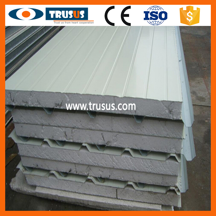 Friendly Super Cleanroom For Prefab Houses White Insulated Wall Panels