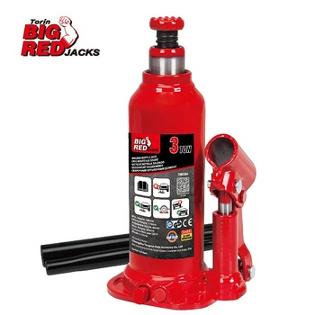 Torin BigRed 3 Ton Welded Bottle Jack Welding Hydraulic Jack With CE Certification TH90304