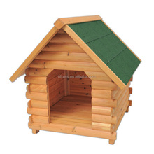 Quality Assured Real Solid Waterproof Wooden Dog House Original Color
