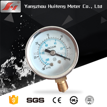 factory price chrome nickle - plated steel case 2.5 inch 60mm vacuum compound gauges pressure gauge