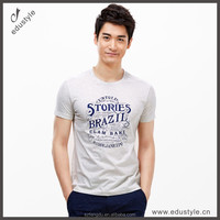 custom new style men t-shirts printing t shirt with grey color