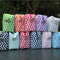 Free shipping via FedEx, Wholesale Chevron cosmetics bags makeup bags with large volume DOM104001