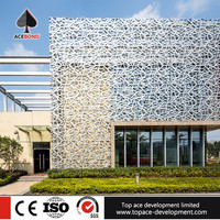Good effect 2.0mm thickness aluminum wall panels apply to lobby facade decoration