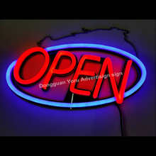 Led bar neon retail shop open closed sign