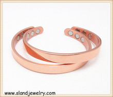 Wholesale Unisex heavy Adjustable 6 magnets arthritis pure magnetic copper bracelet& bangles