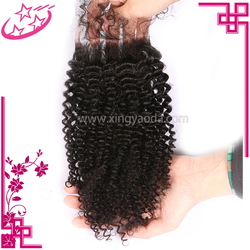 Cheap Price 3.5*4 Human Hair Afro Kinky Curly Lace Frontal Piece Closure