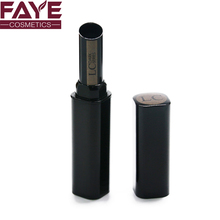 Top quality black square retractable aluminum mental lipstick tube / container