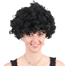 Black afro short curly twist synthetic wigs afro wig