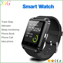 cheap wholesale mobile phones bluetooth u8 ce rohs smart watch with camera and sim card slot